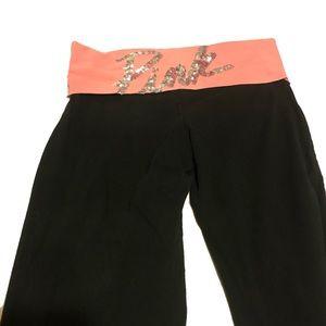 Victoria's Secret Pink Bling Sequins Yoga Pants
